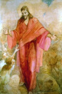 Minerva Teichert - Christ in a Red Robe