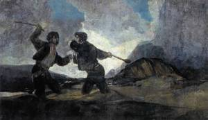 Goya's Duel with Clubs