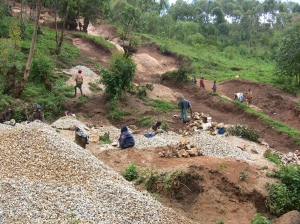 Busting rocks near Kabale