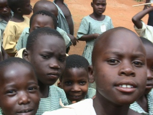 School children near Tororo