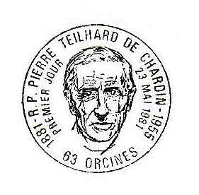 Pierre Teilhard de Chardin postmark