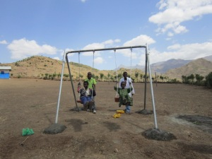 Swing Set Constructed in the Mountains near Lalibela, Ethiopia