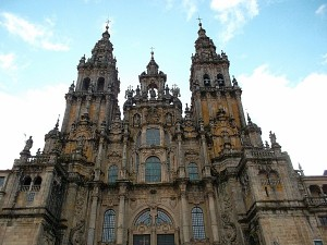 The Medieval Cathedral in Santiago de Compostelle