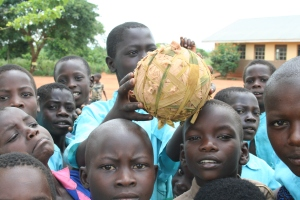 Homemade Soccer Ball in Aromo, Uganda (photograph by Jeremiah Settler)