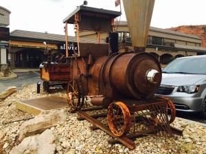 Whimsical Steam Engine by Scuptor Matt Clark