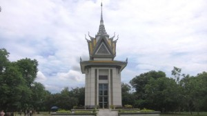 Stupa at Choenung Ek Genocide Center