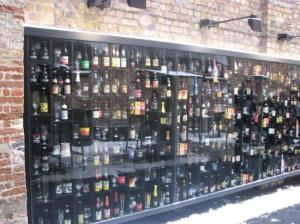 The Wall of Beers at the Entry to the 2be Bar, Bruges