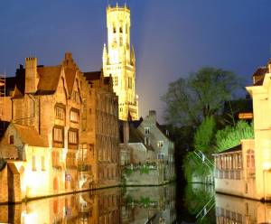 Medieval Bruges at Night