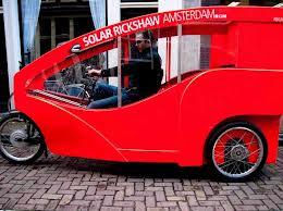 Amsterdam's Bright Red Solar Rickshaw
