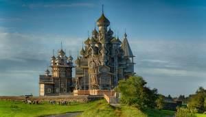 A Wooden Church on Kizhi Island, Russia