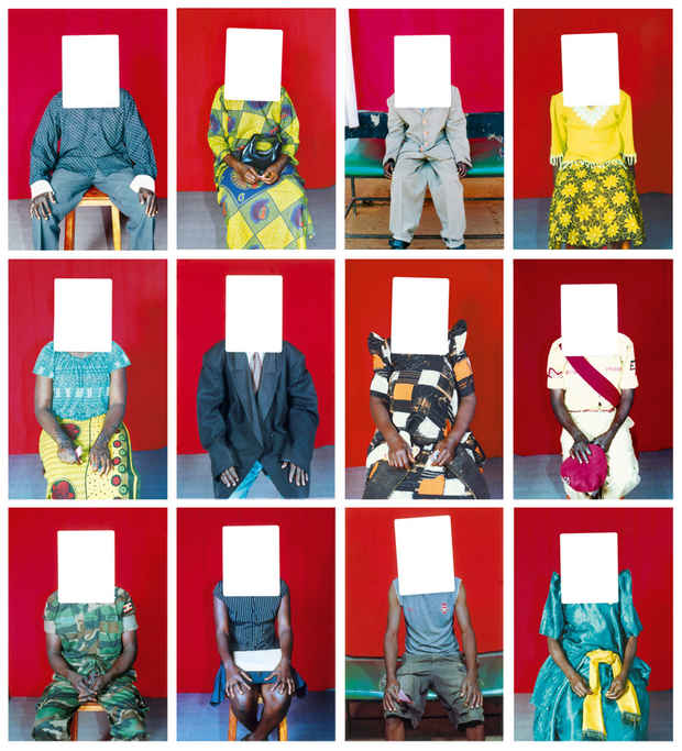 Colorful Outfits of Ugandans  (Faces Were Used for Passport Photographs)