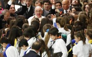 Pope Francis Mingling with His Flock