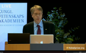 Lars Peter Hansen Giving Lecture as Part of 2013 Nobel Ceremonies