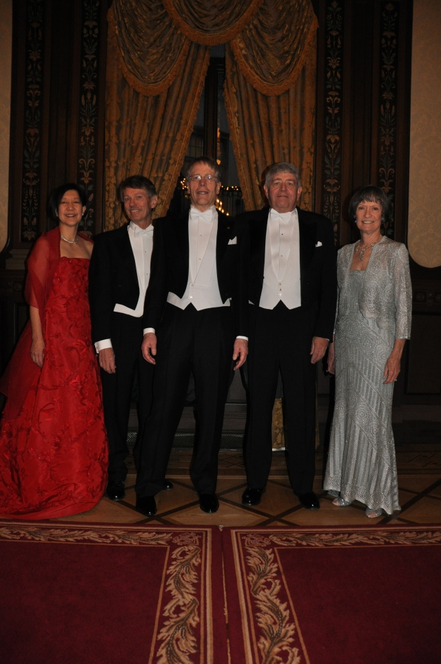 (From Left to Right) Grace, Ted, Lars, Myself, and Janet at a Photo Session Before the Nobel Award Ceremony