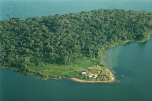 An Aerial Photograph Showing the Two Parts of the Island.