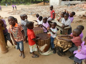 Children Getting Ready to Perform at a Primary School on Bussi Island, Uganda