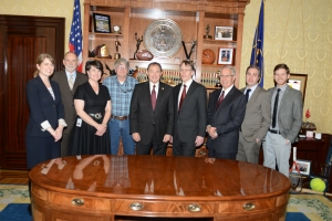 Me, Governor Herbert, Lars, and President Albrecht (from l to r)