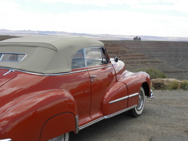 1948 Pontiac Convertible with Alhambra in the Distance