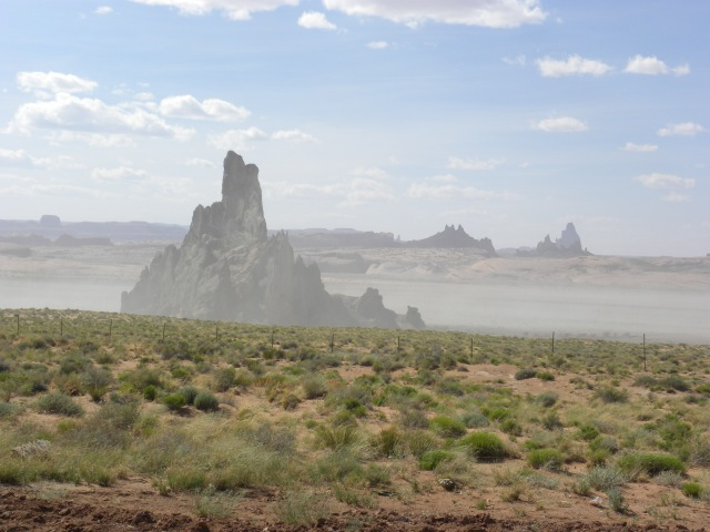 Church Rock with Algathla in the Background (Right)