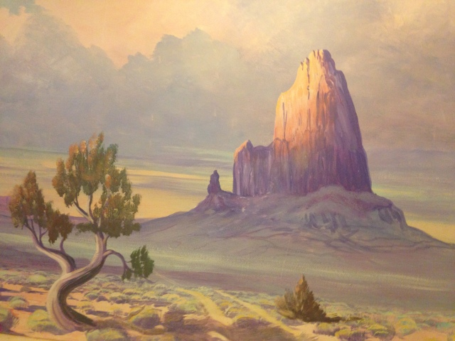 Painting of Agathla Peak (Located in Monumental Valley Inn in Kayenta, AZ)