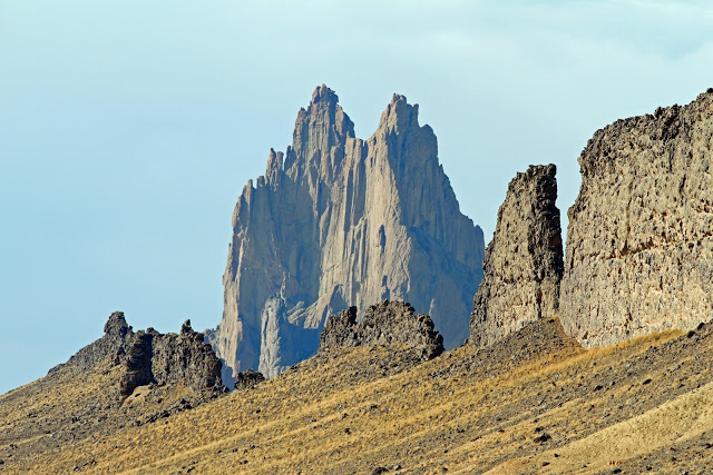 South Dike with Shiprock in the Background