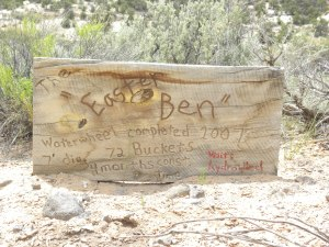 Sign Adjacent to the Largest Waterwheel at BMGR