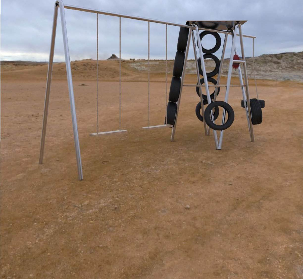 student designs for outdoor playground equipment tired road warrior