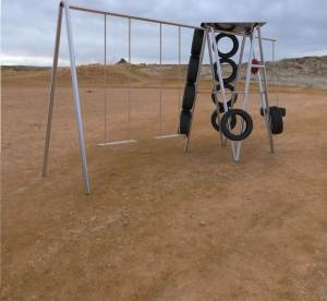 Create Use of Old Tires for Playground Equipment