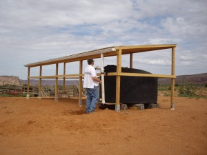 Water Harvesting Unit Installed near Navajo Mountain