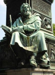 Peter Waldo Statue on the Luther Memorial in Worms, Germany