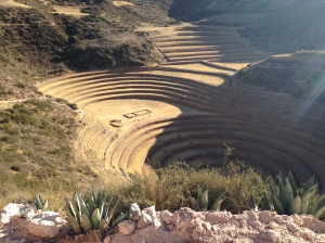 One of Three Moray Terraces Shaped to Form Concentric Circles