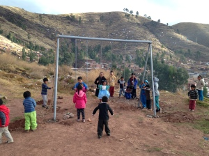 Swing Set Installed at a Preschool in Cusco, Peru
