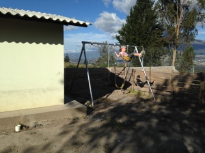 Swing Set Installed at a Preschool near Otavalo, Ecuador