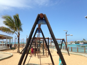 Corner Connectors for the Wooden Post Swing Set in Puerto Ayora