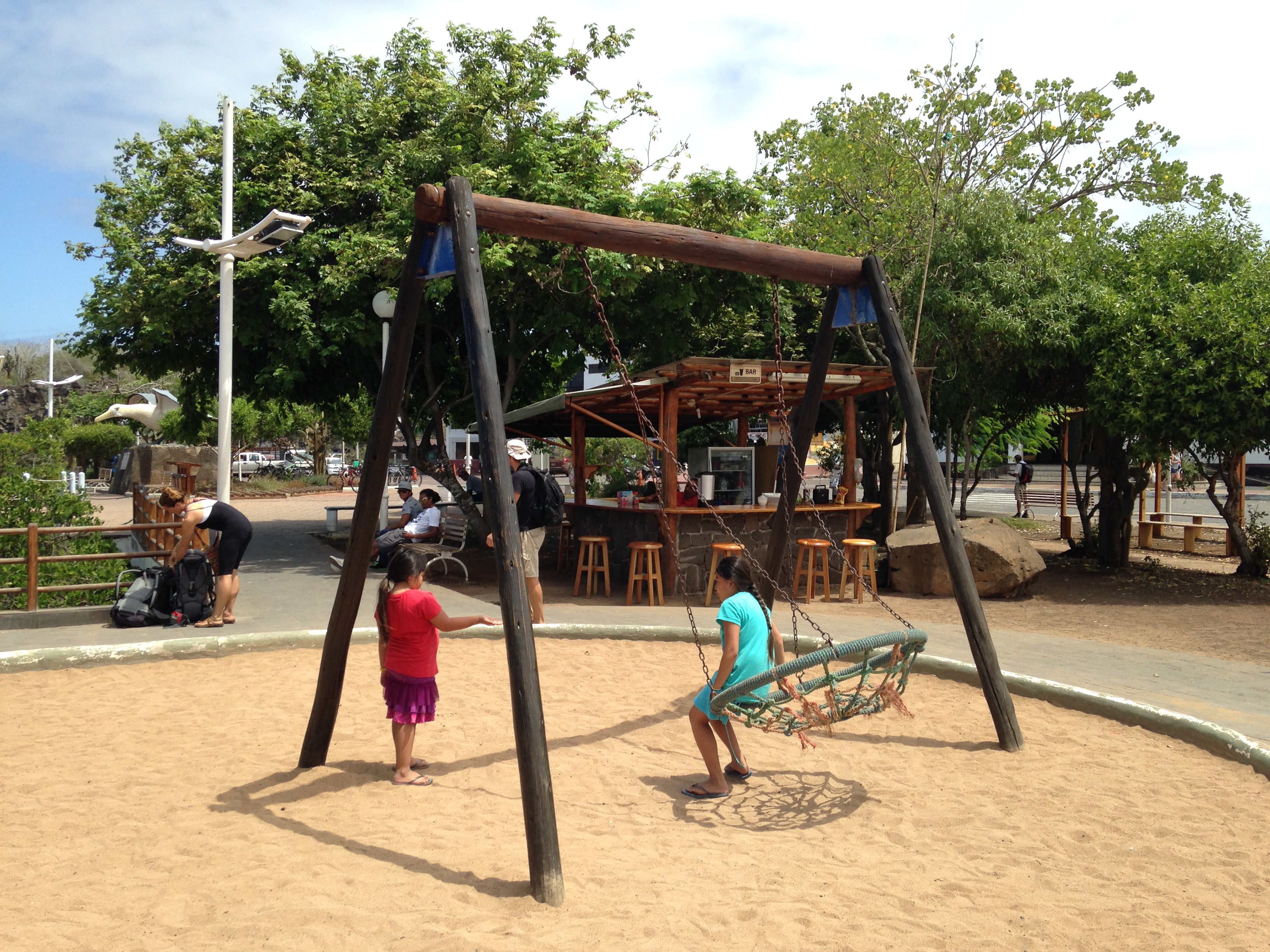 Outdoor Playground Equipment Made of Wood