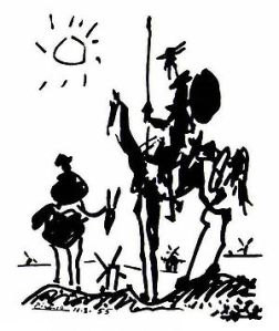 Picasso's Don Quixote Preparing to Tilt at Windmills