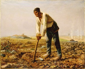 "Millet's ""Man with a Hoe"" (circa 1860)"