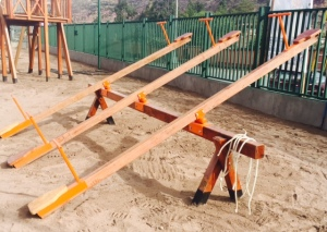 Wooden Teeter Totter Located in Sacred Valley, Peru