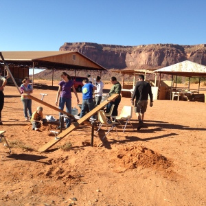 Installing a Wood-and-Pipe Teeter Totter in the Navajo Nation