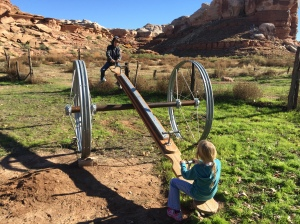 b3433a74d39ea Teeter Totter on Wheels at a Site in Southern Utah