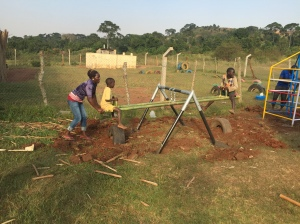 Larger Version of the Hanging Teeter Totter Installed at a Facility for Street Children near Kampala, Uganda