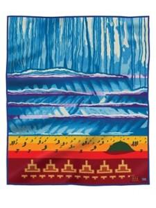 "Gilmore Scott's Pendleton Woolen Mills Blanket Titled:  ""Female Storm"""