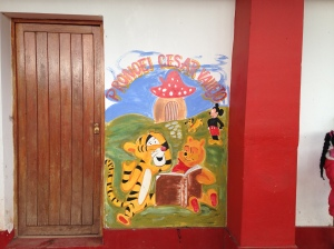 Sign at the Cuzco Preschool