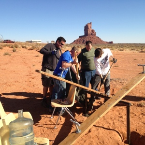 GEO Club Members Working on the Monument Valley Teeter Tooter