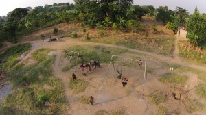Aerial Image of the Outdoor Playground in the Compound