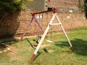 Gabriel's Swing that He Constructed out of Local Wood