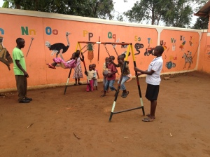 Orphanage/School Swing After the Chain and Seats Had Been Replaced