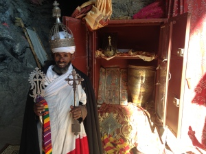 Ethiopian Priest Dressed Up for a Photograph