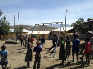 Swing Set in Stalled at Rural School in Northern Ethiopia
