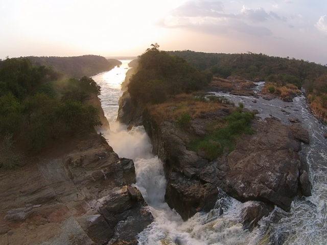The Top of Murchison Falls Looking Downstream